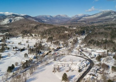 Exterior Winter Aerial w_White Mountains